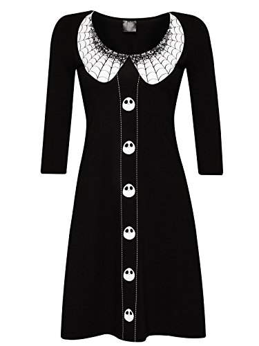 The Nightmare Before Christmas Spider Dress Abito nero/bianco S
