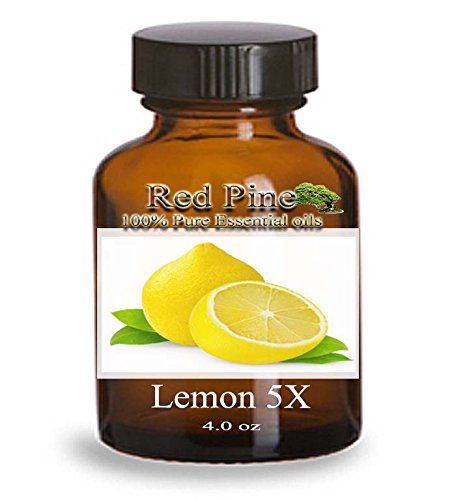 Lemon 5X Essential Oil - Citrus Limonum - 100% Pure Therapeutic Grade - Essential Oil From Flora Power By Red Pine, Inc. (120 Ml - 4 Oz)