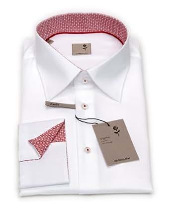 Seidensticker Herren Hemd, 1/1 Arm, Kent, Schwarze Rose, Slim-Fit, Weiß, 44