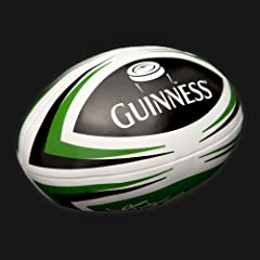 Guinness Green White Soft Rugby Ball