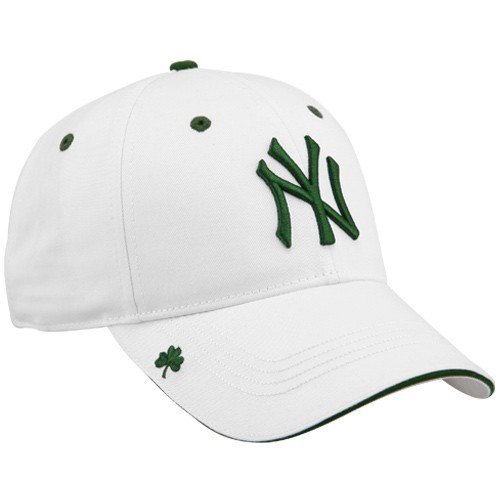 8c0f5d55980 New York Yankees Hats   New Era New York Yankees St. Patrick s Day White  Adjustable Hooley Hat