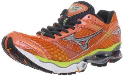 Mizuno Women's Wave Creation 13 Running Shoe,Sun Orange/Silver/Wild Lime,9 B US