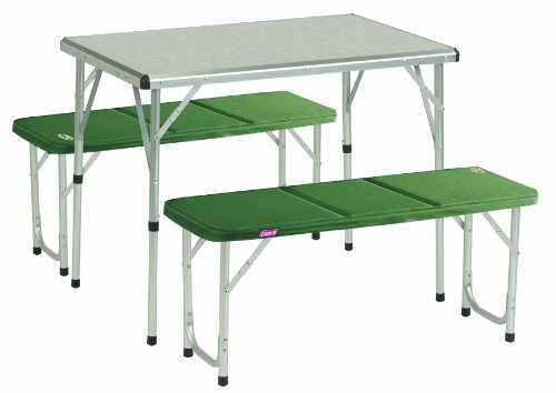 Coleman Pack-away Table for 4 - Silver