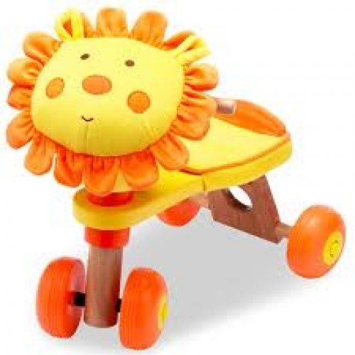 Izziwotnot Zimba Lion Trike, Ride Along Animal Activity Toy