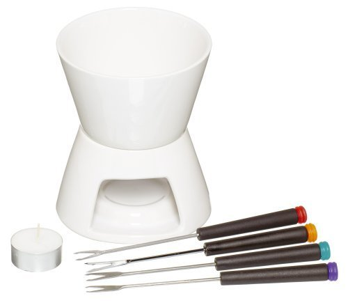 Kitchen Craft Chocolate Fondue Set With Four Forks Chocolate Dipping Desserts by Kitchen Craft
