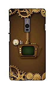 Print Haat Back Case Cover for One Plus Two (Multicolor)