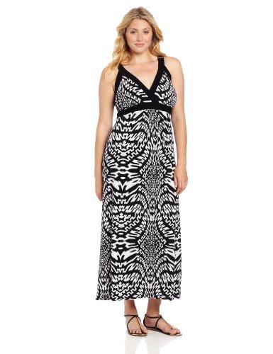 Karen Kane Women's Plus Size Banded Maxi, Print, 0X