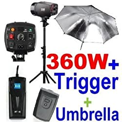NEEWER® Photography Studio Kit - 2 x Strobe Lights, 2x Stands, 2x Umbrellas & Flash Trigger/Receiver