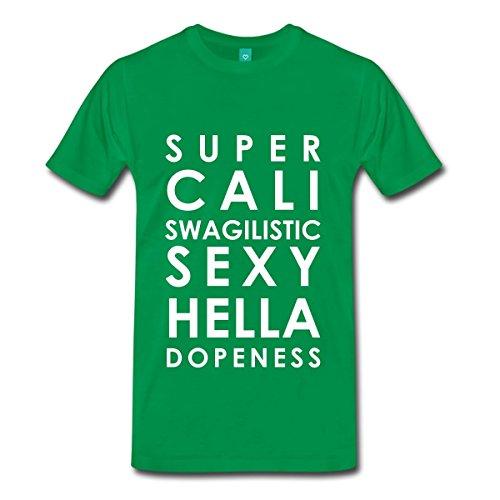 Spreadshirt Men'S Super Cali Swagilistic Sexy... T-Shirt, Kelly Green, 3X