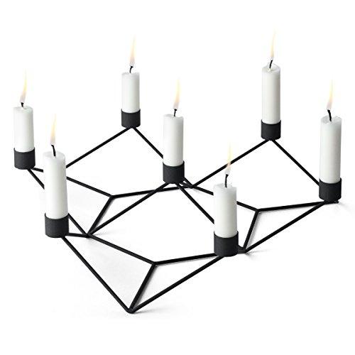 Menu Kerzenhalter, schwarz