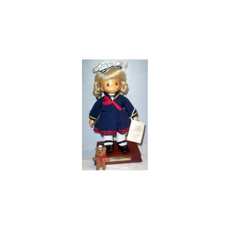 Hand Crafted Wooden Precious Moments Sailor Doll Rene Limited