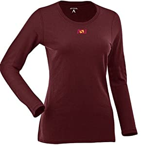 Arizona State Ladies Relax Long Sleeve Tee (Team Color) by Antigua