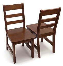 Lipper International 523-4WN Child\'s Chairs, Walnut, Set Of 2