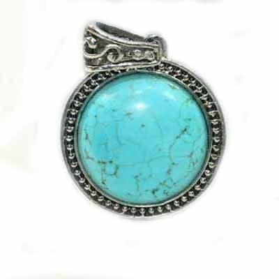 SILVER PLATED NATURAL TURQUOISE- EARRINGS- #3