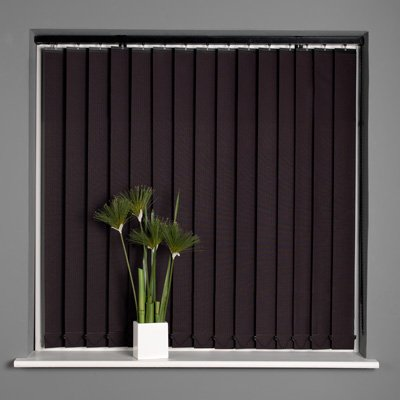 Sunlover Stripe Black Vertical Blind Black 183X137cm
