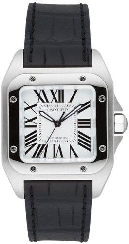 cartier-midsize-santos-100-reloj-automatico-piel-w20106-x-8-reloj-reloj-de-pulsera