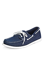Blue Harbour Lace Up Canvas Deck Shoes