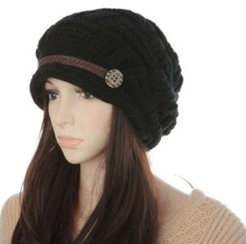 Women Knit Snow Hat Winter Snowboarding Beanie