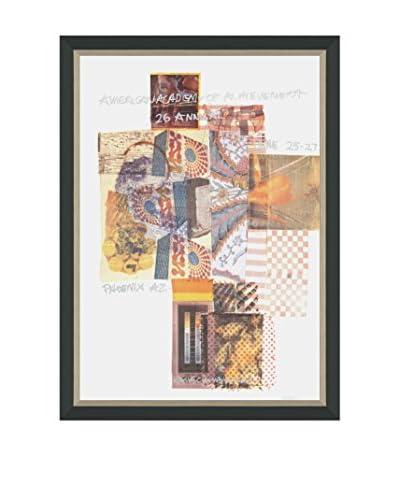 Robert Rauschenberg American Academy of Achievement, Phoenix AZ (Printed In 1987) Framed Poster