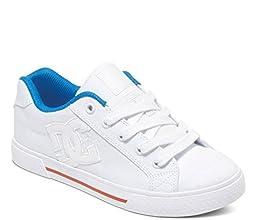 DC Women\'s Chelsea TX Skate Shoe, White/Red/Blue, 9 M US