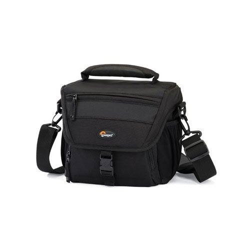 Lowepro Nova 160 AW All Weather Shoulder Bag for Digital SLR for Canon 100D, 700D, 600D, 1100D, Nikon D3100, D3200 D5100, D5200, Samsung NX3000, Panasonic G3,  Sony Alpha A58  - Black