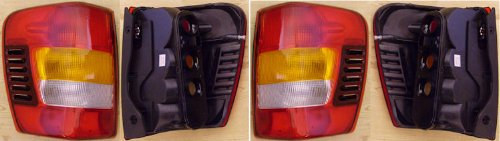 2003-2004 Jeep Grand Cherokee -- Rear Tail Lamp Light FROM 08/02,W/O PAINTING replaces OEM 55155139AG, 55155138AH Interchange 166-2054, 166-2053 Partslink CH2800150, CH2801150