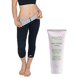 Delfin Spa Bio Ceramic Anti Cellulite Capris & Cream, Black/Black, X-Large