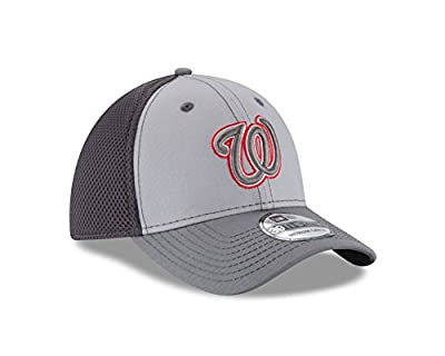 MLB Washington Nationals Grayed Out NEO 39Thirty Stretch Fit Cap