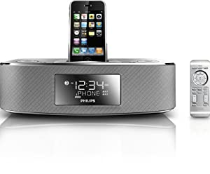 Philips DC290/37 30-Pin iPod/iPhone Alarm Clock Speaker Dock (Brushed Aluminum)