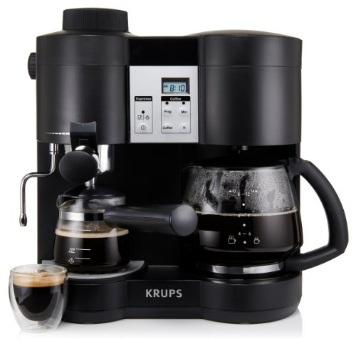 Krups xp1600 coffee maker and espresso machine combination New coffee machine