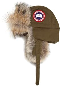 Canada Goose Men's Aviator Hat,Military Green,Small-Medium