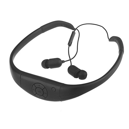 Andoer Ssa Wireless Waterproof Bluetooth Sports Earphone Headset Headphone For Cellphone Pc Swimming Skating (Black)