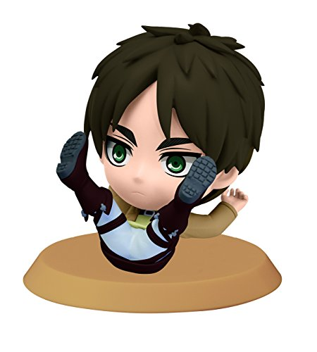 Banpresto Attack on Titan 2.4-Inch Eren Chibi-Kyun-Chara Figure, Training Version