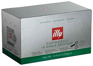 Illy Espresso Coffee Pods Decaf
