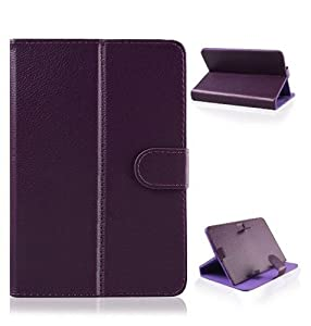 Ushoppingcart Universal Flip Folio Faux Leather Carrying Case Cover with Stand For 7 Inch Android Tablet touch screen PC (7-inch purple) from Ushoppingcart