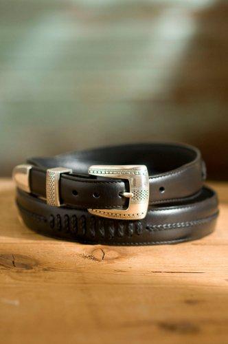 Tony Lama Men s Tapered Leather Dress BeltB0006FR9XU