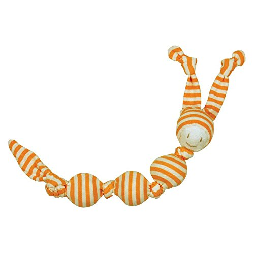 Keptin-Jr Organic Cotton Sneeky Soft Baby Toy in Orange