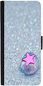Snoogg Starfish Jelly Graphic Snap On Hard Back Leather + Pc Flip Cover Samsu...