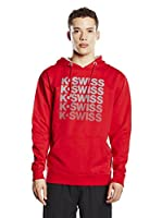 K-Swiss Sudadera con Capucha K Spell Out (Rojo)
