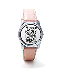 BigOwl Is It A Car Or A Cat Painting Women's Analog Wrist Watch 2114884536-RS2-S-PK1