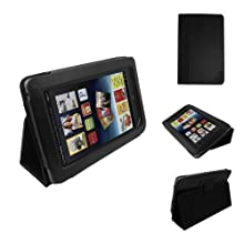 Poetic Leather Case Cover With With 3-in-1 Built-in Stand For Barnes and Noble Nook Tablet Black