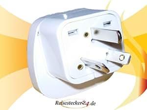 Design Reisestecker Adapter für Australien auf Deutschland 230V, Ausi-Umwandlungsstecker AUS-D