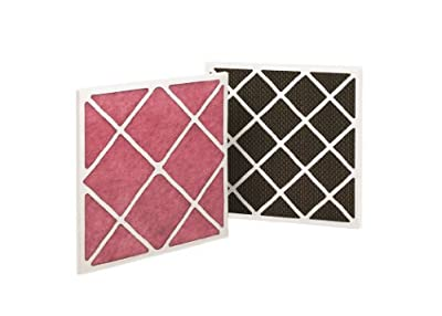 "Filtration Group 14979 Pre-Filtered Honeycomb Odor Removal Air Filter, Activated Carbon, Pink/Brown/Black, 24"" Height x 24"" Width x 1"" Depth (Case of 4)"