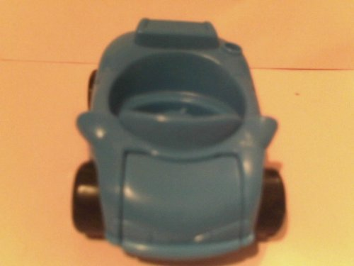 Little People Blue Car 1999, One-seater with Lift Panel of Front of Car, Loose Out of Production Replacement Part - 1