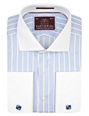Sartorial Luxury Pure Cotton Striped Winchester Shirt