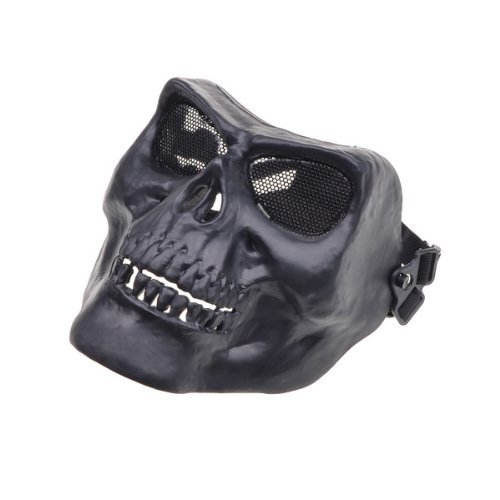 Black Death Skull Skeleton Army Airsoft Paintball Full Face Game Protect Mask for Airsoft Hunting Wargame and All Military Purpose