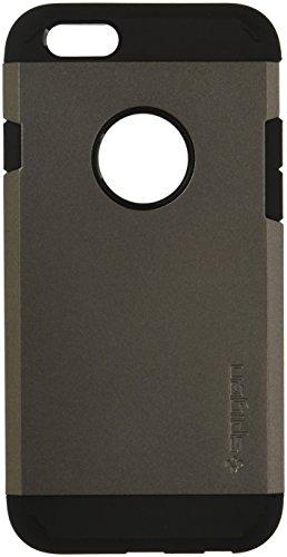 Spigen iPhone6S / iPhone6 ケース タフ・アーマー 米軍MIL規格取得 耐衝撃カバー (ガンメタル SGP11612)