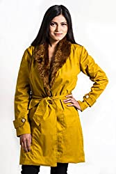 Fbbic Women's Coat (15003_X-Small_Yellow)