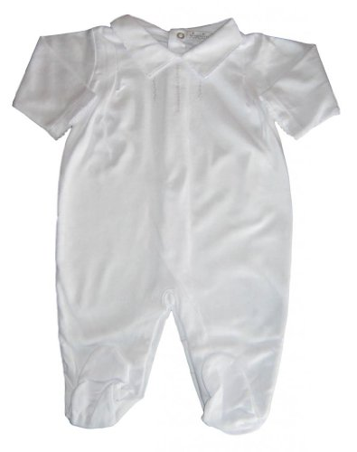 Kissy Kissy Baby-Boys Infant Special Occasion Collared Footie-White-Newborn front-970886