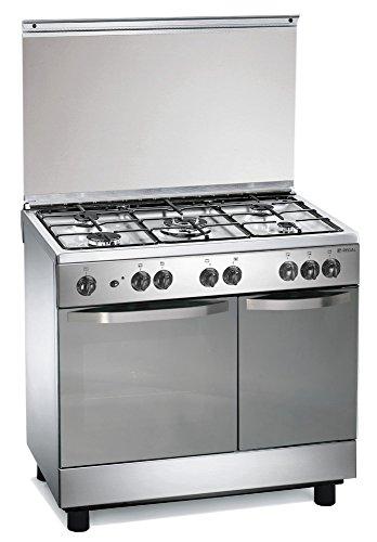 Cuisinire--gaz-90x60x85-cm-inox-5-feux-avec-four-lectrique-Regal-RC7965EX